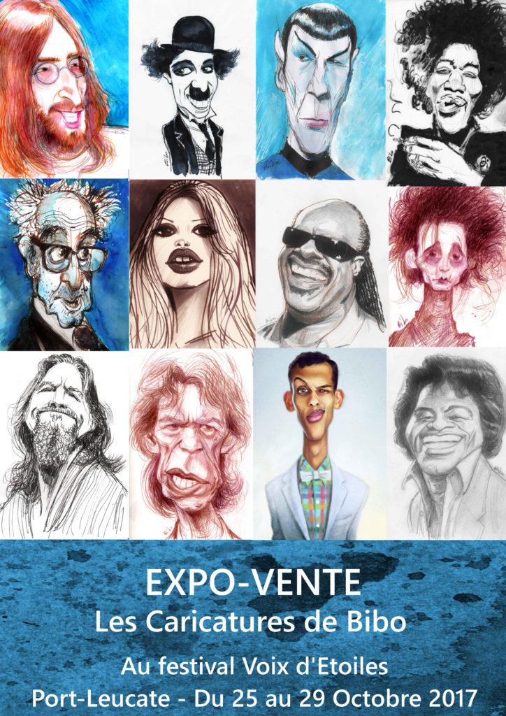 affiche expo vente 2017 Bibo Bergeron Port Leucate 2017